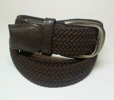 """Polyester Braided NEW Brown Belt Mens Size 42 Width 1.25"""""""
