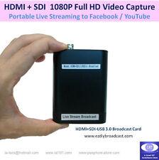 HDMI + 3G-SDI / HD-SDI to USB Video Capture Card for Facebook YouTube LiveStream