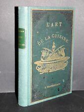 CHEMIN Art de la Cuisine RECETTES MENUS En partie EDITION ORIGINALE RARE 1899