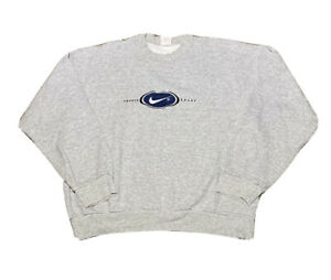 Vintage 1990s Nike Grey Tag Embroidered Spell Out Crewneck Sweatshirt size S