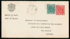New ListingMayfairstamps Canada 1943 Henryville Quebec Compound Stationery to Montreal Cove