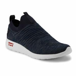 Levi's Mens Drifter KT Logo Casual Rubber Sole Knit Fashion Slip-on Sneaker Shoe