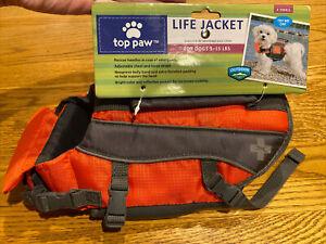 NEW NWT Top Paw XS Neoprene Orange Dog Life Jacket Vest 5-15lb