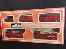 Solido 1:43 + 1:50 FIRE ENGINE GIFT SET 5 Vehicles COFFRET POMPIERS MIB No 7010