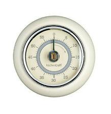 Kitchen Craft Cream Living Nostalgia Range 60 Minute Count Down Magnetic Timer