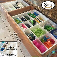 Divisori cassetto Utility Organizzatore cucina Storage ordinato Designs regolabile