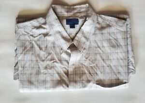 Dockers Checkered Shirt Men's Size XL Short Sleeve