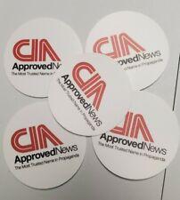 "CNN SUCKS 🤣 CIA CNN OPERATION MOCKINGBIRD STICKERS 5 PACK LOT 3"" HD FAKE NEWS"