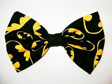 NEW FABRIC HAIR BOW W/ALLIGATOR CLIP * Batman * Handmade USA * FREE SHIPPING A