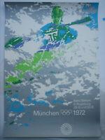 Poster Plakat - Kanu DIN A0 - Olympiade 1972 München - Otl Aicher -
