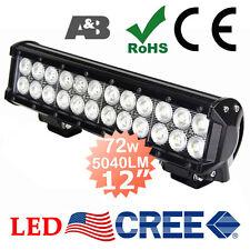 "12"" 72W CREE LED Light Bar Work Lamp Bright 5040LM 12V 24V Spot/Flood Combo Beam"