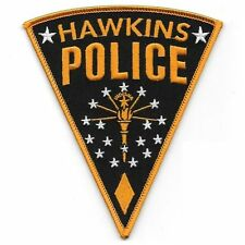 Stranger Things Hawkins Police Iron On Patch Hooper Cosplay/Fancy Dress Badge Ap