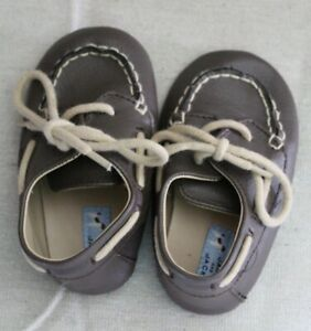 Janie and Jack brown cute leather loafer baby shoes Sz 4