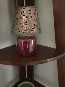 Yankee Candle Topper Bronze METAL Floral Shade,Topper,Medium Large Jar