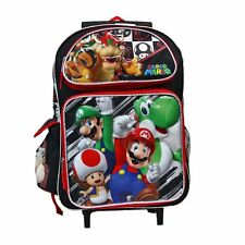 "Super Mario Brothers & Friends 16"" Rolling Backpack - Licensed Product"