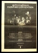 FAIRPORT CONVENTION 1975 Poster Ad UK TOUR sandy denny
