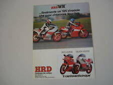 advertising Pubblicità 1984 HRD 125 RED/SILVER HORSE