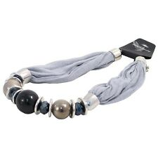 Bufanda Collar Bold Grano-Gris