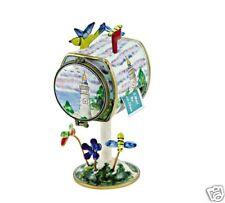 Kelvin Chen Enamel Copper Handpainted Tall Stamp Dispenser - Lighthouse
