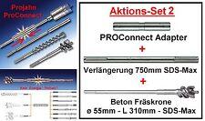 Projahn PROConnect SET 2 mit Adapter + Beton-Fräskrone ø 55 x 310 SDS-Max 99974