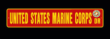 "US MARINE Street Sign 6""x30"" Military decal USMC"