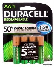 DURACELL AA Rechargeable NiMH 2400 mAh 1.2V Batteries 4 PACK DC1500 ~NEW