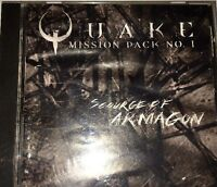 Quake Mission Pack No. 1 Scourge of Armagon PC IBM CD-Rom Game-TESTED-VERY RARE