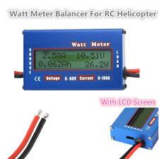 60V Digital Battery Power Analyzer Watt Meter Balancer For DC RC Helicopter New