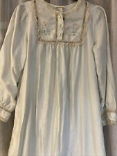 Vintage Barbizon Satin Nightgown Cuddleskin Flannel Lined Small Long Sleeved USA