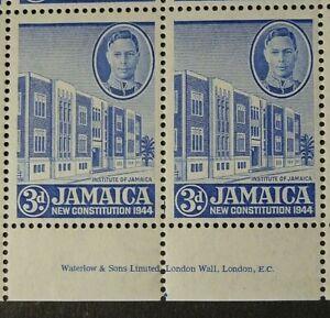 JAMAICA 1946 SG136a. KGVI 3d. INSTITUTE OF JAMAICA  -  MNH