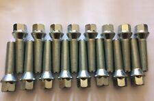 16 x M14X1.25 Argento esteso BULLONI CERCHI IN LEGA 45mm MINI FILO si adatta a vedere elenco