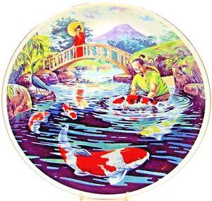 Koi Carp ~ The Fisherman ~ Fine Bone China Plate