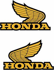 2 x Honda Wings Decal Sticker Motorbike Scooter Laptop Window FREE POSTAGE!