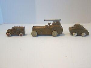 Barclay Manoil Vintage Die Cast Military vehicles