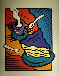Original Burton Morris AFTERNOON DELIGHT Art Print New Signed & Numbered