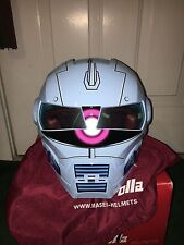 Masei 610 Zaku Sky Blue  Chopper Bike Gundam Macross  Helmet