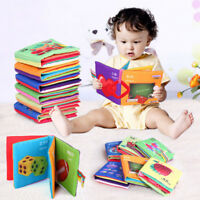 1X Baby Soft Cloth Cognize Book Kids Intelligence Development Learn Pictures Toy
