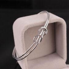 Titanium Jewelry Love Twist Knot Cuff Bangle Bow-knot Bracelet Stainless Steel