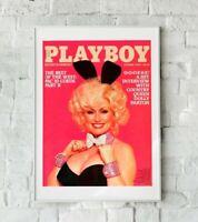 Dolly Parton Poster, Dolly Parton Playboy Art Print, Playboy Print, Wall Art