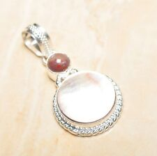 "Mother of Pearl Abalone Sea Shell 925 Sterling Silver Pendant 2"" #P16360"