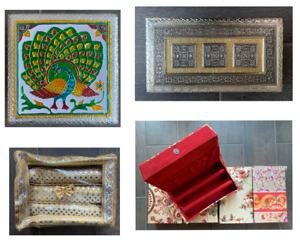 JEWELLERY BOX BANGLE BOX INDIAN STORAGE TABLE ETHNIC HOME DECOR READ DESCRIPTION