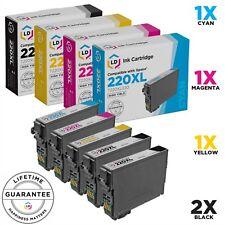 LD 5pk for Epson 220 XL T220XL Ink Cartridges Expression XP-320 XP-420 XP-424