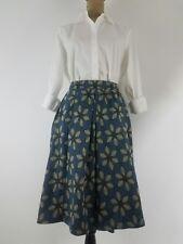 New LULAROE Womens Madison Skirt XS Pleated Floral Blue Gray Pockets Career