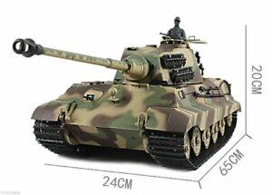 Heng Long Radio Control Tank King Tiger Military tank 1/16 BB shooting 6.0v UK !