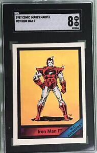Iron Man I West Coast Avengers 1987 Comic Images Marvel #39 SGC 8