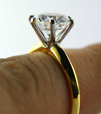 Engagement Ring Solitaire 14K Yellow Gold 1.10 Ct Round Brilliant Diamond Cut