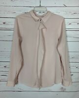 Ivanka Trump Women's M Medium Light Blush Pink Long Sleeve Spring Top Blouse