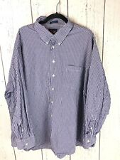 Forsyth Of Canada Mens Size 3X Purple Long Sleeve Oxford Button Up Dress Shirt
