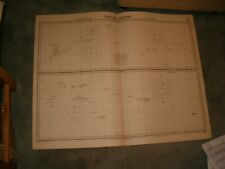 Vintage Admiralty Chart 980 CAROLINE ISLANDS 1917 edn