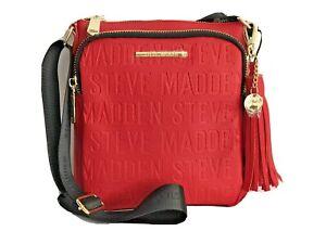STEVE MADDEN Messenger Crossbody Bag - BGLAMM - RED